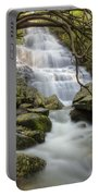 Angels At Benton Waterfall Portable Battery Charger by Debra and Dave Vanderlaan