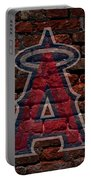 Angels Baseball Graffiti On Brick  Portable Battery Charger by Movie Poster Prints