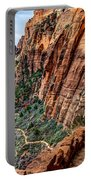 Angels Landing Trail From High Above Zion Canyon Floor Portable Battery Charger