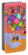 Angels With Hot Air Balloon Portable Battery Charger by Sarah Batalka