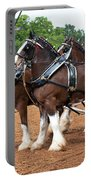 Anheuser Busch Budweiser Clydesdale Horses In Harness Usa Rodeo Portable Battery Charger
