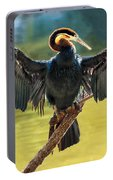 Anhinga Drying His Wings Portable Battery Charger