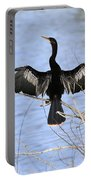 Anhinga Over Blue Water Portable Battery Charger