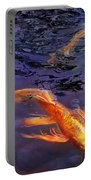 Animal - Fish - There's Something About Koi  Portable Battery Charger by Mike Savad