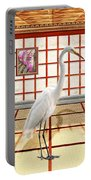 Animal - The Egret Portable Battery Charger by Mike Savad