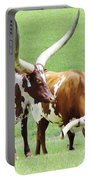 Ankole And Texas Longhorn Cattle Portable Battery Charger