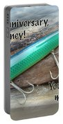 Anniversary Greeting Card - Saltwater Lure Portable Battery Charger