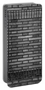 Another Brick In The Wall In Black And White Portable Battery Charger