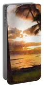Another Maui Sunset - Pastel Portable Battery Charger