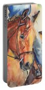 Horse In Watercolor Another Sunrise Portable Battery Charger