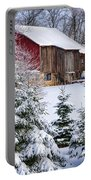Another Wintry Barn Portable Battery Charger