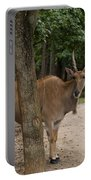 Antelope Behind A Tree Portable Battery Charger