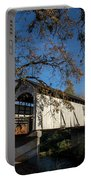 Antelope Creek Bridge In Fall Portable Battery Charger