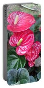 Anthurium Red Portable Battery Charger