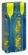 Antibes Blue Bottles Portable Battery Charger by Ben and Raisa Gertsberg