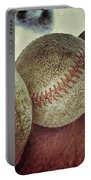 Antique Baseballs Still Life Portable Battery Charger