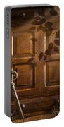 Antique Cabinet Portable Battery Charger by Amanda Elwell