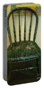 Antique Child's Chair With Quilt Portable Battery Charger