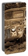 Antique Cut Bed Truck In Sepia Portable Battery Charger