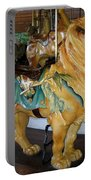 Antique Dentzel Menagerie Carousel Lion Portable Battery Charger by Rose Santuci-Sofranko