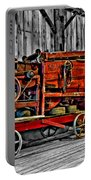 Antique Hay Baler Selective Color Portable Battery Charger