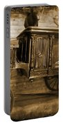 Antique Hearse As Tintype Portable Battery Charger