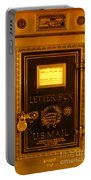 Antique Letter Box At The Brown Palace Hotel Portable Battery Charger