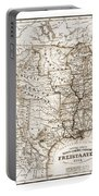 Antique Map 1853 United States Of America Portable Battery Charger by Dan Sproul