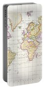 Antique Map Of The World Portable Battery Charger by James The Elder Wyld
