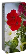 Antique Petunia Flowers Portable Battery Charger