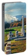 Antique Pillars And Power Plant Megalopoli Greece Portable Battery Charger