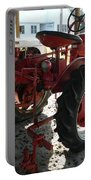Antique Tractor Hiding In The Shadows Portable Battery Charger