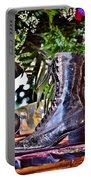 Antique Victorian Boots At The Boardwalk Plaza Hotel - Rehoboth Beach Delaware Portable Battery Charger