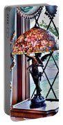 Antique Victorian Lamp At The Boardwalk Plaza - Rehoboth Beach Delaware Portable Battery Charger