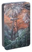 Antique Windmills At Dusk Portable Battery Charger