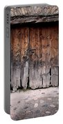 Antique Wood Door Damaged Portable Battery Charger