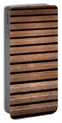 Antique Wood Texture Portable Battery Charger