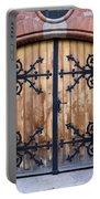 Antique Wooden Door Portable Battery Charger