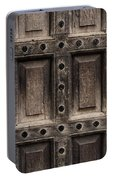 Antique Wooden Door Closeup Portable Battery Charger