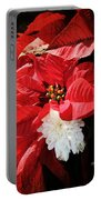 Antiqued Poinsettia Portable Battery Charger