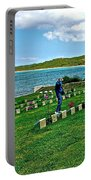 Anzak Cemetery Along The Dardenelles In Gallipolii-turkey Portable Battery Charger