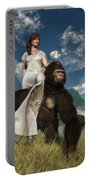 Ape And Girl Portable Battery Charger