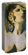 Aphrodite And Ancient Cyprus Map Portable Battery Charger