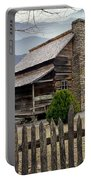 Appalachian Mountain Cabin Portable Battery Charger by Randall Nyhof