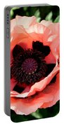Appealing Pink Poppy Portable Battery Charger