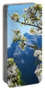 Apple Blossoms Frame The Rockies Portable Battery Charger