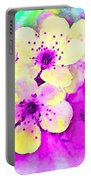 Apple Blossoms In Magenta -  Digital Paint Portable Battery Charger