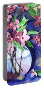 Apple Blossoms Portable Battery Charger by Sherry Harradence