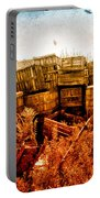 Apple Crates And Crows Portable Battery Charger by Bob Orsillo