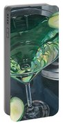 Apple Martini Portable Battery Charger by Debbie DeWitt